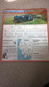 LOT 10: R&ER 1979 card timetable. Good condition.