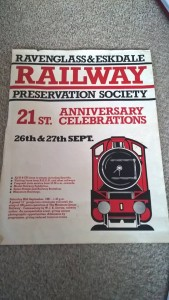 LOT 12: R&ER 21st anniversary celebrations poster. Good condition.