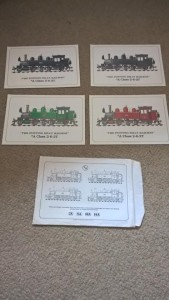 LOT 14: Four colour prints of locomotives of the Puffing Billy Railway in Australia in a presentation envelope. 1996.