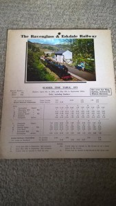 LOT 9: R&ER 1971 card timetable. Good condition.